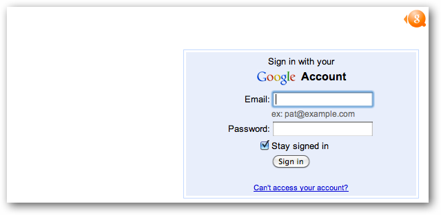 Google Sign-in Form