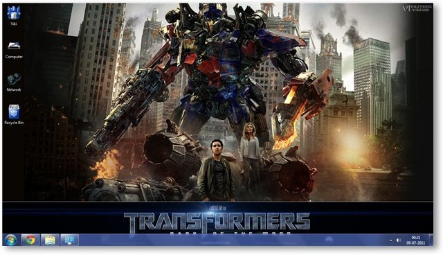 Transformers 3 Theme for Windows 7 and Windows 8