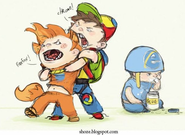 Browser Wars - Firefox vs Chrome vs Internet Explorer