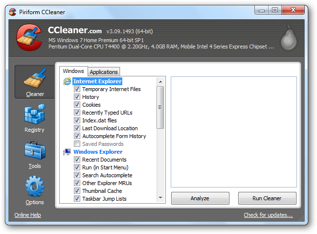 (14) ccleaner for the first time