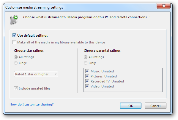 (9) advanced media streaming options