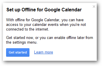 (2) set up calendar offline