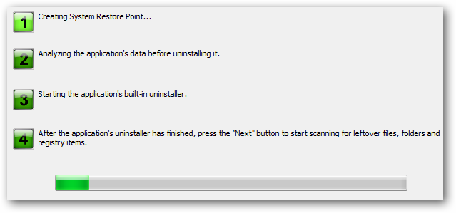 Four steps to uninstall process