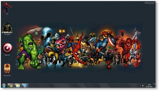 marvel comics windows 8 theme