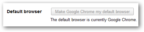 Setting Chrome as your default browser