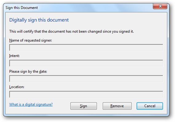Digitally sign this document