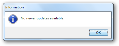 No updates available