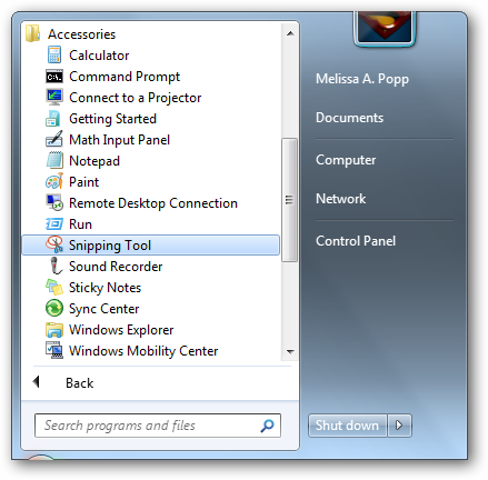 Windows 7 Snipping Tool Lets Your Take Quick Screenshots