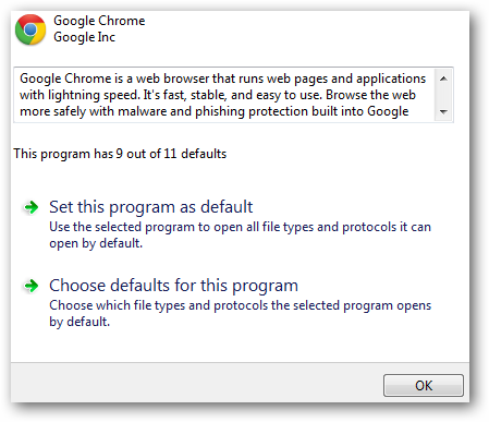 how to set my default browser
