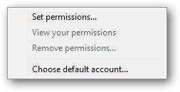 Windows XPS Viewer permissions