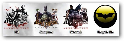 Batman Arkham City Theme Icons - TechNorms