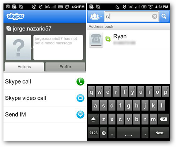 Skype for Android -Video Calling
