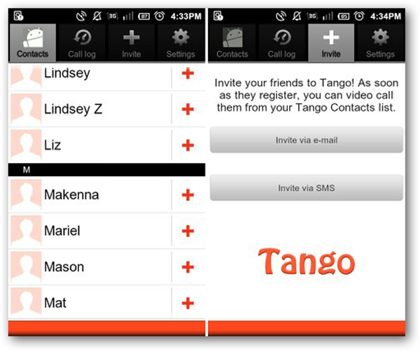 Android Video Chat - Tango