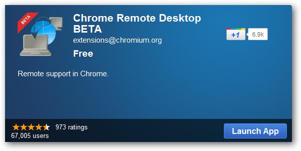 launch app-chrome remote desktop