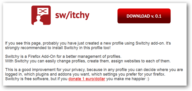 Easily Switch and Create New Profiles in Firefox With Switchy