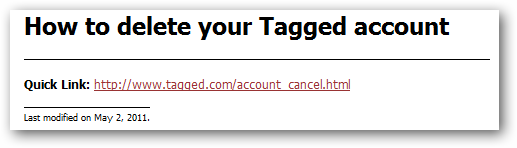 tagged-delete your account