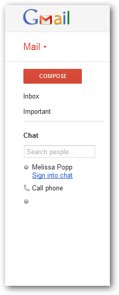 Changing the size of Google Talk