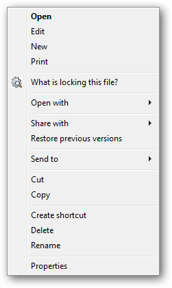 Right click a file or folder