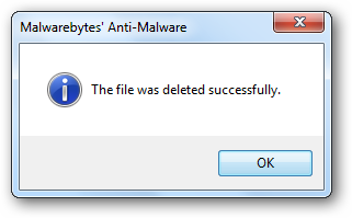 The file was deleted successfully.