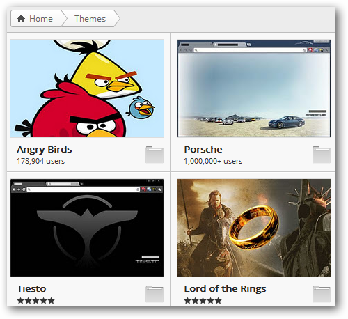 Chrome Themes in Web Store