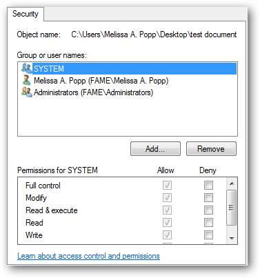 (4) changing permissions