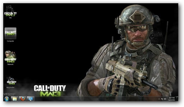 Call Of Duty Modern Warfare 3 Theme Screenshots
