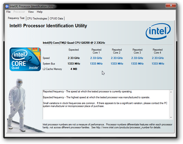 Intel Processor Identification