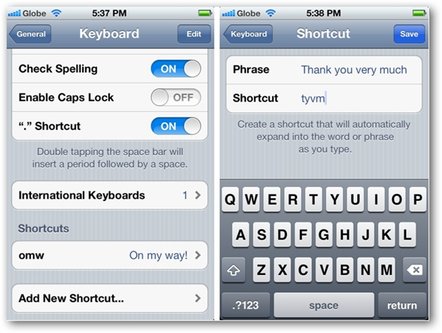create shortcut on iphone how to create keyboard shortcuts in ios 5 on iphone and 5769