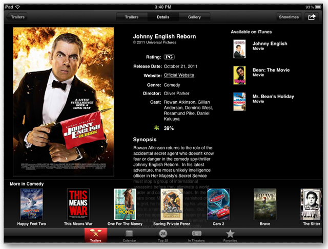 Apple Movie Trailers App Lets You View New Movie Trailers On
