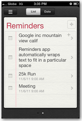 how to delete list in reminders