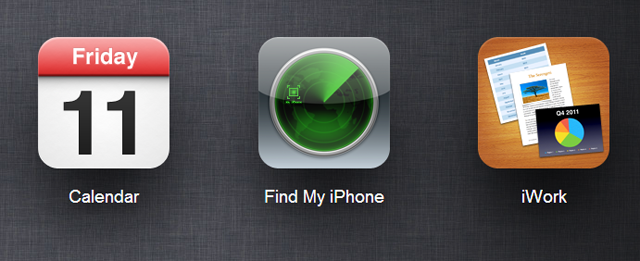 Screenshots of iCloud's Find My iPhone