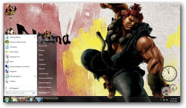 Windows 7 Themes: Street Fighter Theme for Windows [Game Themes]
