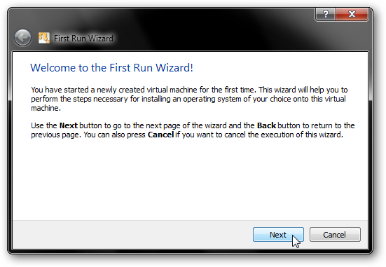 Virtual Machine Setup Wizard