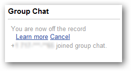 Phone number joining Hangout