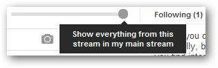 Show everything from this stream in my main stream