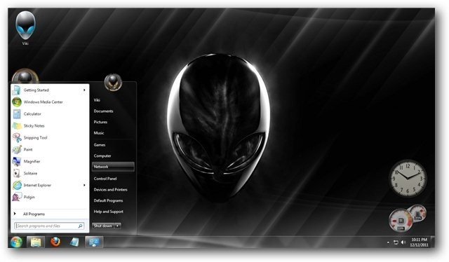 alienware theme for windows 7 and windows 8