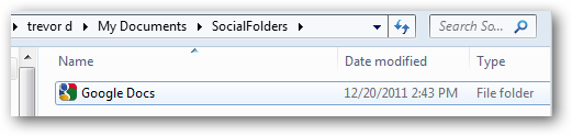 local folder for linked accounts