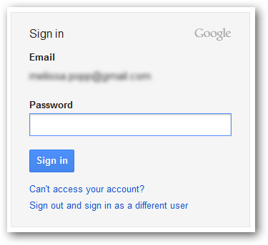 Login to Google services