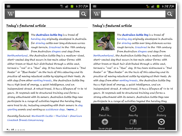 Wikipedia App for iPhone and Android Devices