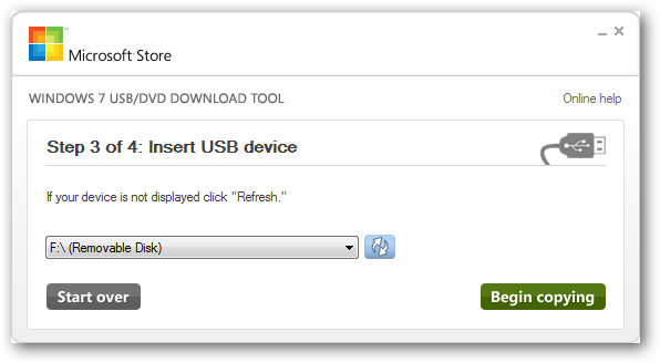 Use the Windows 7 USB/DVD Tool to Create Bootable USB for Installation