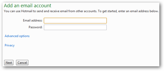 how to connect hotmail account to gmail