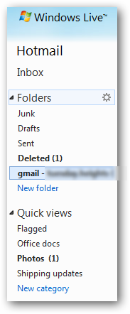 Hotmail folders