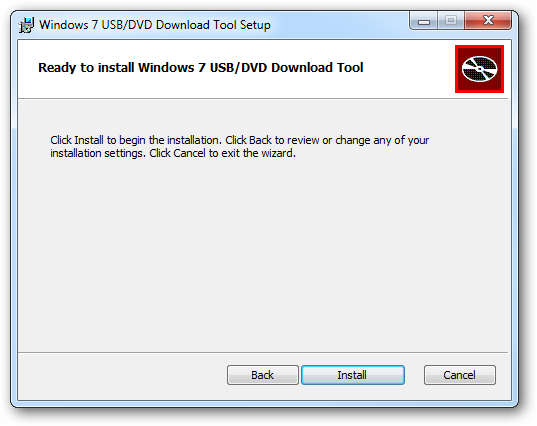 use the windows 7 usb dvd tool to create bootable usb for On window usb tool
