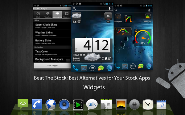 Kinds Best Android Widgets