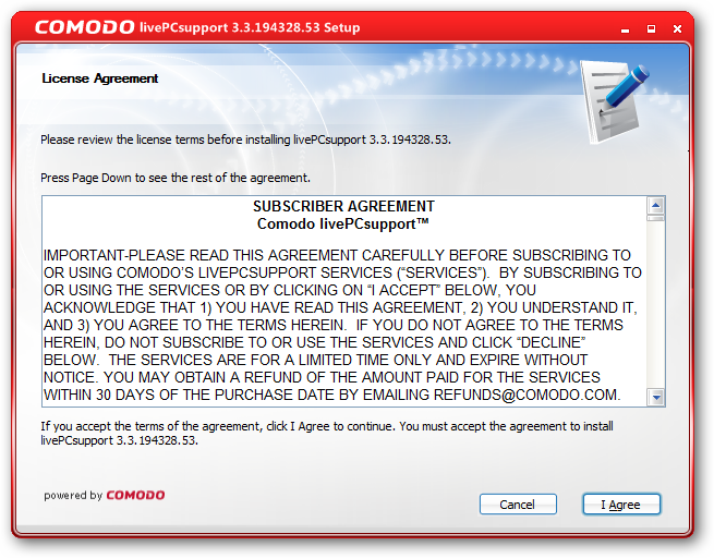 Subscriber Agreement