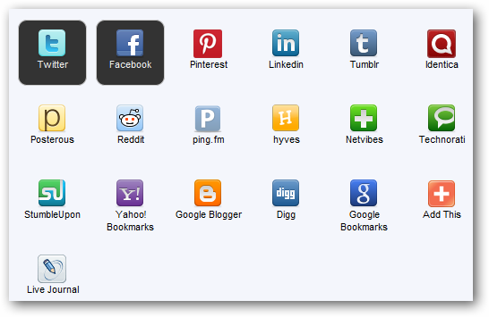 Social networks to share on