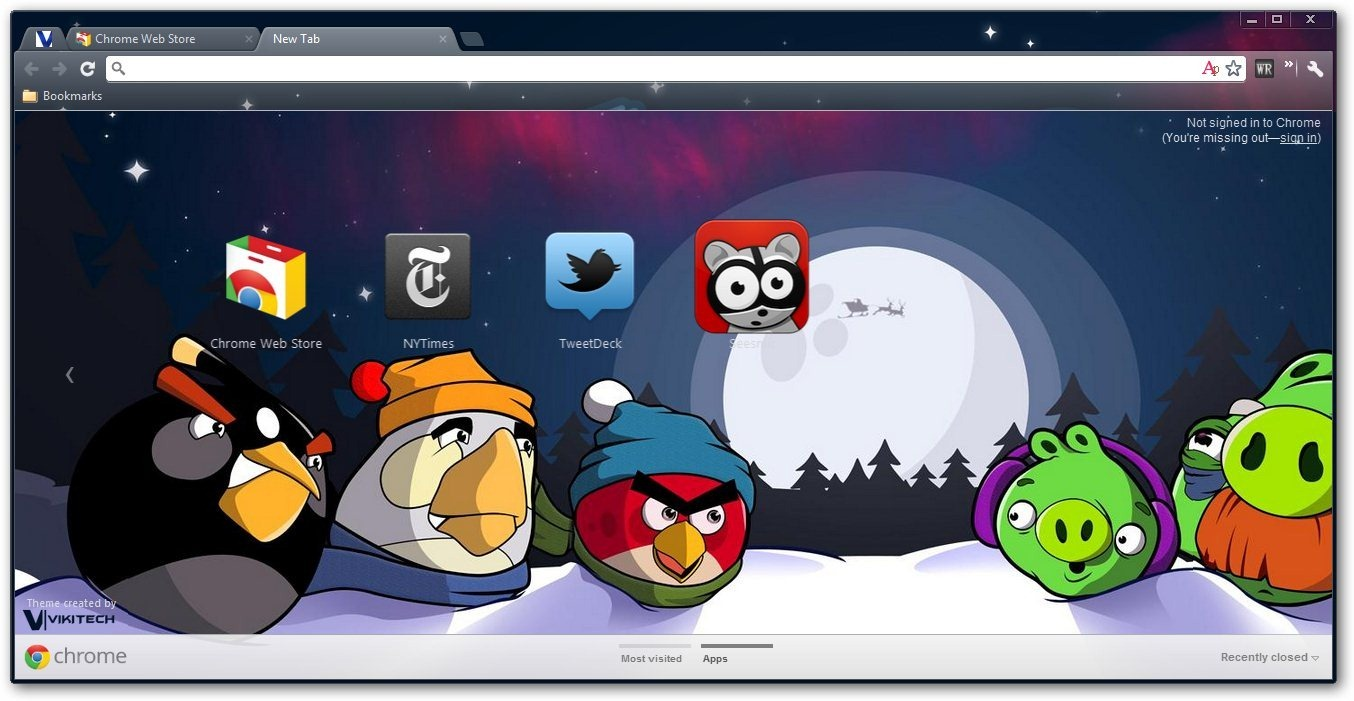 angry birds google chrome themes