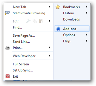 how to add a thumbnail new tab firefox