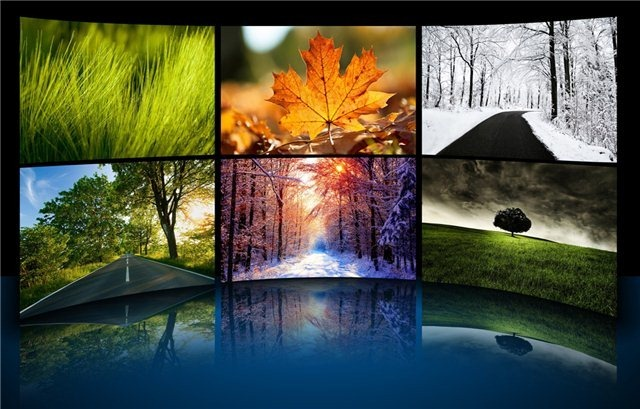 The four seasons theme for windows 7 and windows 8 nature for Ideanature