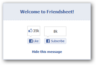 Welcome to Friendsheet